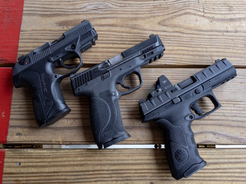 All three of these are solid carry guns. After my little experiment, I'm seriously considering moving to the Big Dots or pistol optics.