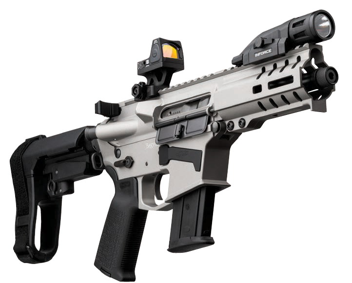 A CMMG Banshee from the high-end 300 Series.