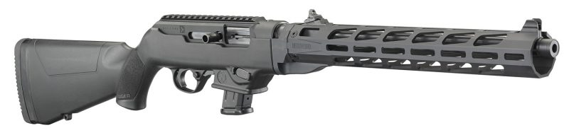 The Ruger PC Carbine with free-flot barrel and M-Lock handguard.