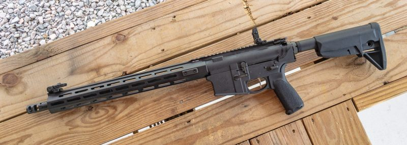 The Bravo Company pistol grip and stock are nice additions. Note the infinity billion M-LOK attachment points.