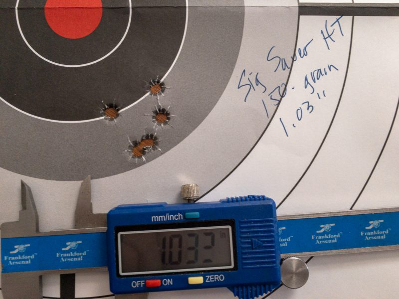 Once I got the gas settings correct, the Sig Sauer HT 150-grain ammo performed well.