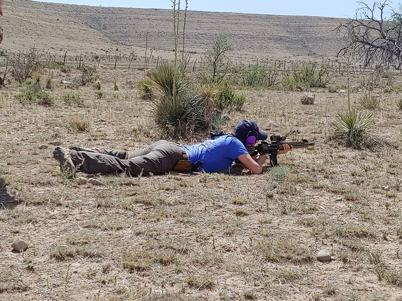 Shooting Laying Down