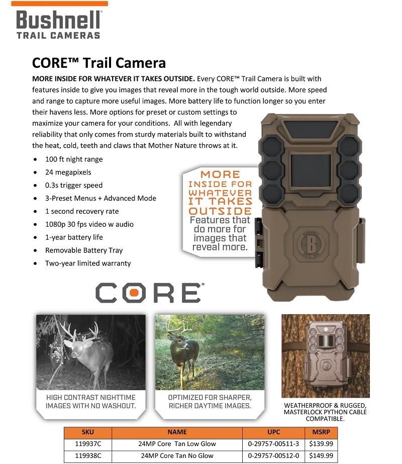 Bushnell CORE Trail Cameras