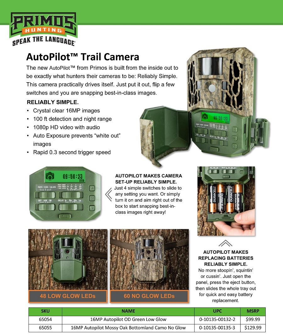 Primos 16MP AutoPilot Trail Camera