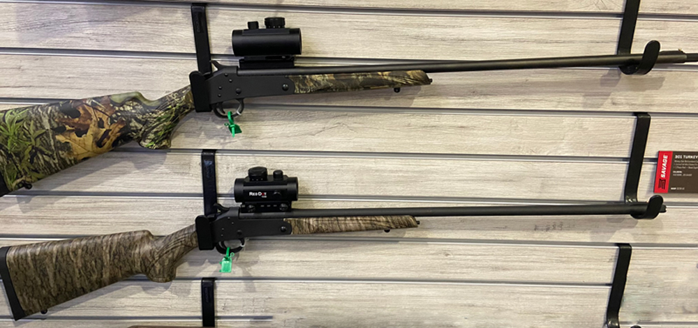 Savage 310 single-shot turkey guns.
