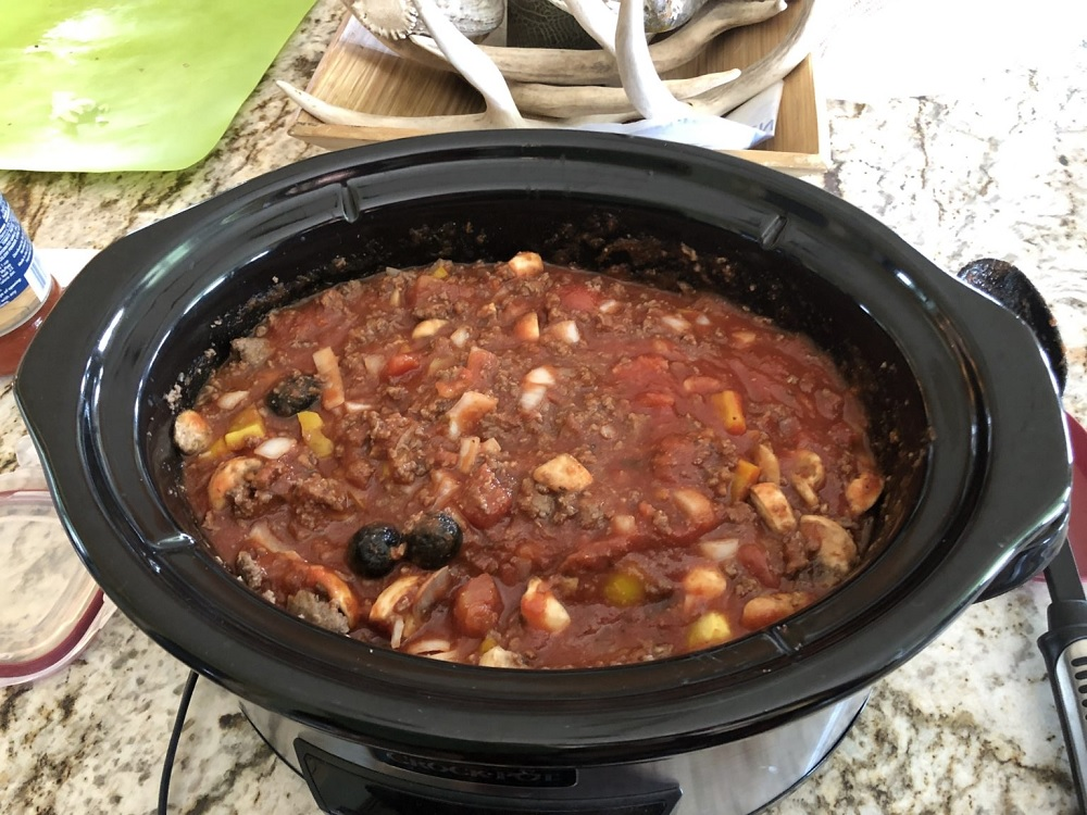 Venison Crockpot Spaghetti Squash
